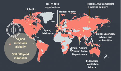 Scale of the WannaCry Cyber Attack