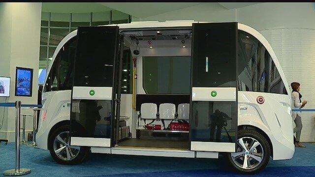 Navya's driverless mini-bus