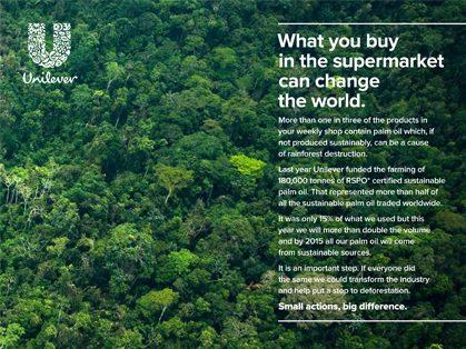 Unilever 2010 palm oil campaign