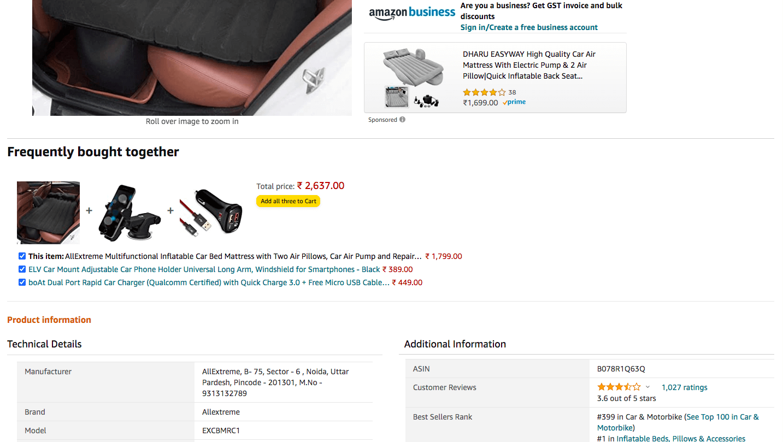 amazon product catalog product bundling