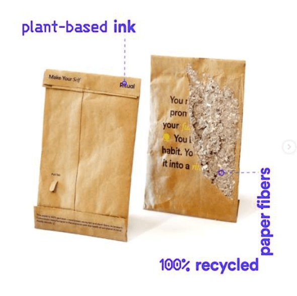 sustainable packaging innovations - plant ink