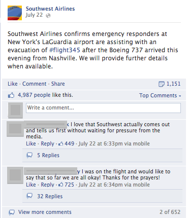 Southwest Airlines- real-time social listening
