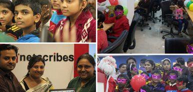 Netscribes plays Santa to Cherubs  – Christmas CSR